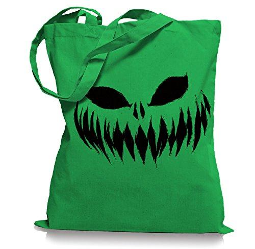 Ma2ca® Halloween Pumpkin Smiley black Tragetasche / Bag / Jutebeutel WM101-kelly