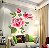 Rose Flower Vinyl Home decor Wall Art Decal Sticker by homking