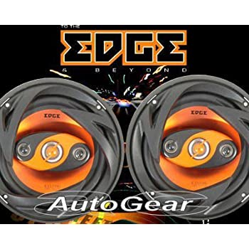"Edge Audio ED206 6.5"" inch 180w 180 Watts 4-Way 16.5cm Car Door Coaxial Speakers - Pair"