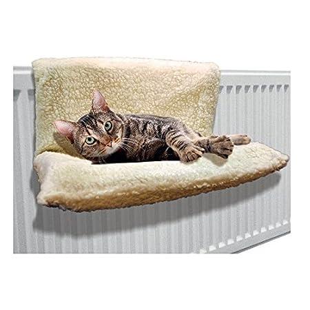 Invero Fleecebett zur Befestigung an Heizungen, warm, für Katzen und Hunde