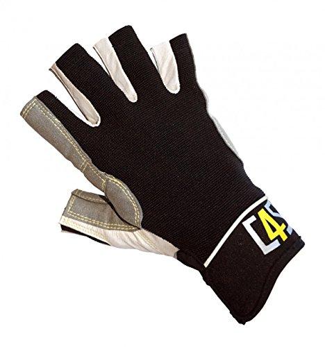 crazy4sailing Damen und Herren Segelhandschuhe Racing - 5 Finger-frei, Farbe:schwarz, Größe:L