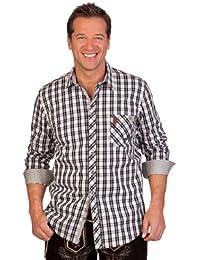 Trachtenhemd Krempelarm rot lachs Slim Spieth /& Wensky H1341 RAUBACH azurblau