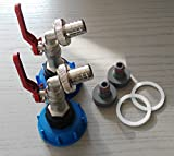 CMTech GmbH Montagetechnik 2X CMS60133MK99 Auslauf Kugelhähne mit Stecker passend für Gardena, IBC-Container-Zubehör-Regenwasser-Tank-Adapter-Fitting-Kanister