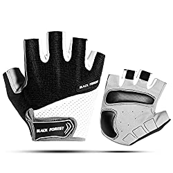 1 pair of bicycle gloves, motorcycle half finger riding gloves, mountain bike protective gloves, motorcycle sport mountain bike protection (black, M)