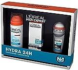 L 'Oreal Loreal Men Expert 3Sensitive Geschenk Set-Hydra 24(Moisturiser, Shaving Gel, auf Rolle)
