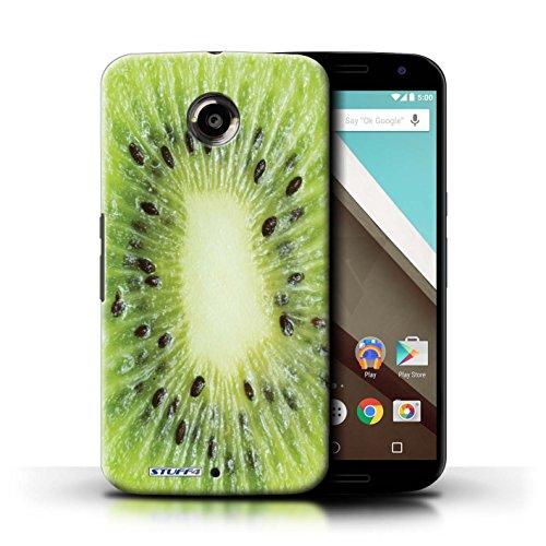 Kobalt® Imprimé Etui / Coque pour Motorola Nexus 6 / Orange / Peau conception / Série Fruits Kiwi