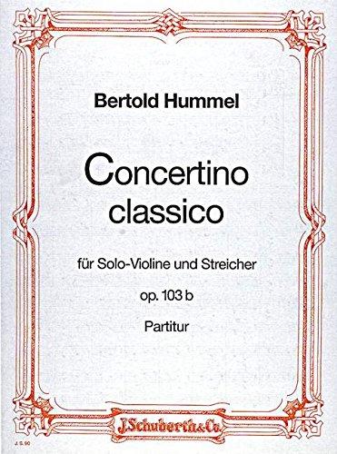 Concertino classico D-Dur op. 103b - vio...