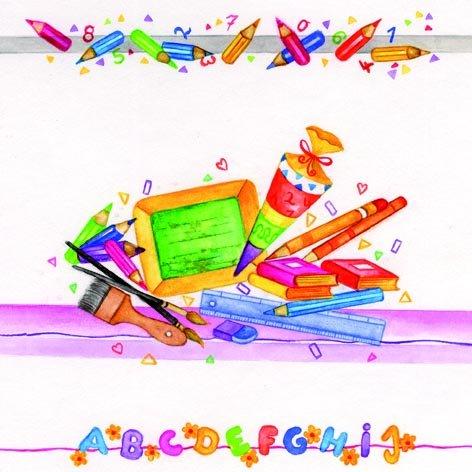 20 Servietten Schulanfang ABC Schultafel Erster Schultag Einschulung Schule Junge Mädchen