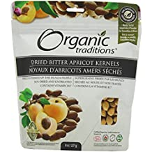 Organic Traditions - Granos de albaricoque amargo seco - 8 oz.