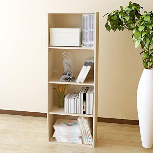 Estantería, librería, taquillas tableros de partículas de color blanco arce cuatro capas combinación