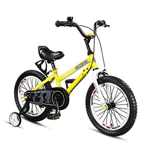 CYXYXXYX Freestyle Rueda Auxiliar Bicicleta para Niños Bicicleta para Niños con Ruedas De Entrenamiento, Niños De 14 Pulgadas con Soporte De Aleación Y Portabultos