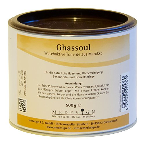 Ghassoul, Tonerde, 500g - Juckende Haut Badewanne