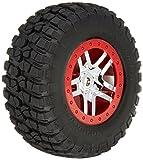 Traxxas 5975A BFGoodrich mud-terrain T/A KM2Reifen serienmäßig auf SCT chrome, split-spoke, rot beadlock-style Rollen