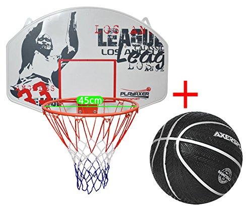 Axer Sport, Basketballboard mit Ring und Netz 45cm, Basketballbrett OUTDOOR