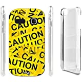 FUNDA CARCASA STRISCE CAUTION PARA ALCATEL ONETOUCH POP C3