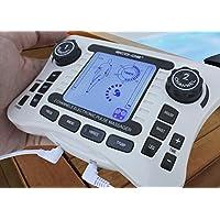 ECO-DE EMS Electroestimulador Muscular eléctrico 2 Canales Double Tens, 4 Parches, 17 programas. Maletín Incluido