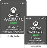 Suscripcion Xbox Game Pass Ultimate - 3 Meses   + 3 Meses Gratis   Xbox One/Windows 10 PC - Código de descarga