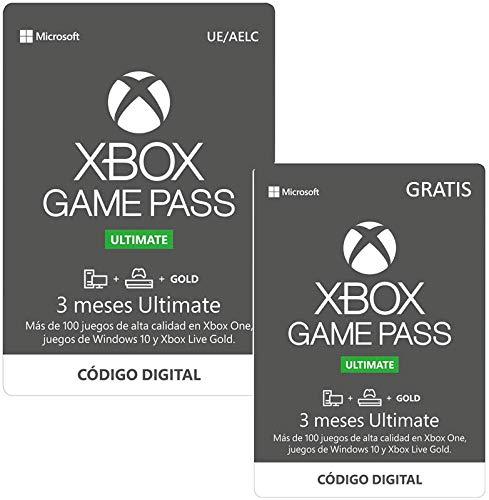 Suscripcion Xbox Game Pass Ultimate -  3 Meses   + 3 Meses Gratis | Xbox One/Windows 10 PC -  Código de descarga