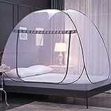 YYYL Moskito-Bett Baldachin Pop-Up, faltbar, Doppeltür Anti-Mücken-Bisses, vollständig geschlossenes Schlafzimmer Haushalt Anti-Moskitonetze Beste Moskitonetze, 1, 100cm *195cm