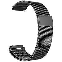 Fintie Bracelet pour Samsung Galaxy Watch 46mm / Gear S3 Frontier/Gear S3 Classic Smartwatch - Sport Poignet en métal Replacement Bracelet Milanais avec Fermeture magnétique, Noir