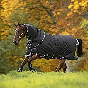 Horseware Amigo Bravo 12 Plus Turnout Medium 250g – Black/STR Blue/Black