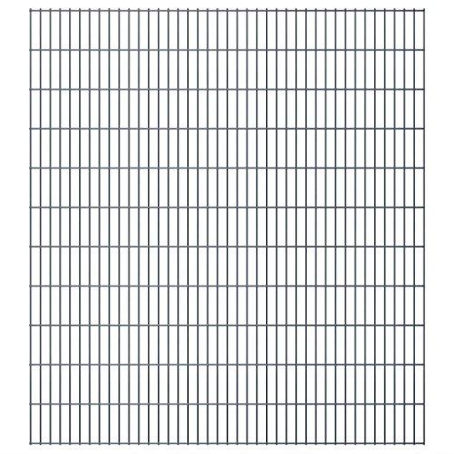 vidaXL 2D Panneaux de clôture de jardin 2008 x 2230 mm 16 m Gris