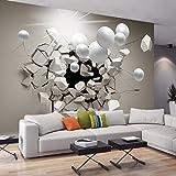 murando - Fototapete Abstrakt 300x210 cm - Vlies Tapete - Moderne Wanddeko - Design Tapete - Wandtapete - Wand Dekoration - Kugel 3D a-C-0002-a-b