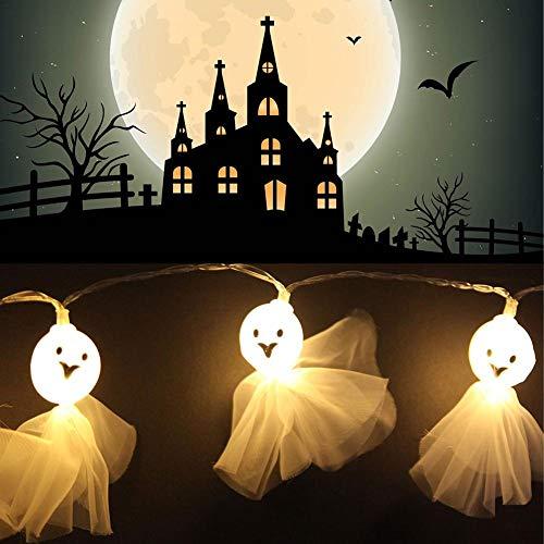 iStary 1,5 M / 59,06 Zoll 10 Lampen Skeleton Stoff Ghost Elf Grimasse Lichterketten Mit LED Batteriehalter Für Halloween Party Festivals Dekoration