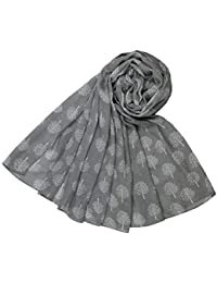 Mulberry Tree Design Scarf in Grey Ladies Fashion Scarves