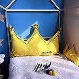 Liveinu Krone Fleece Kopfteil Kissen Bett Rückenkissen Rückenlehne Palettensofa Kissen Für Bett Sofa Couch Waschbar Dekorationskissen Gelb 70x150cm