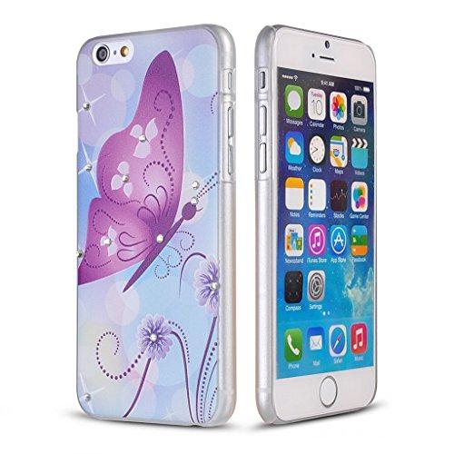 UKDANDANWEI Apple iPhone 6s Hülle Case - Bling Strass Ultra Dünn Hart PC Hülle Glitzer Rückseite Slim Etui Schale für Apple iPhone 6s -14 Bling-14