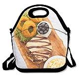EJjheadband Cow Meats Blueberry Orange Fashion Reusable Lunch Bag