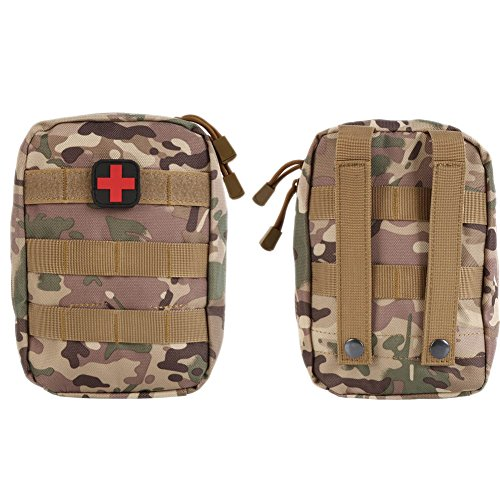 Tracffy Waterproof Tactical MOLLE EMT Medical First Aid IFAK Utility Pouch With Cross Chapter 600D - Pouch Medical Molle