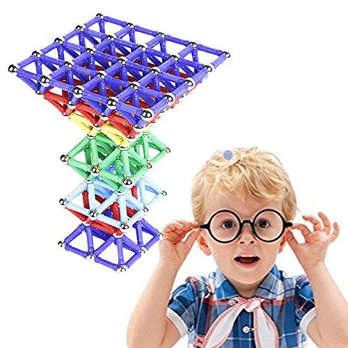 60pcs Magnetische Bausteine Set spielzeug Bauklötze Ball Konstruktionsbausteine Magnetspielzeug Blöcke Tolles Weihnachtsgeschenk Lernspielzeug für Kleinkinder den Einsatz zu Hause, in Schulen (Intuition-geschenk-set)