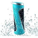 Waterproof Bluetooth Speaker, Webat Sports Hiking Cycling Enhanced Bass Stereo Speaker With 4400mAh Power Bank Function Built-in Microphone 15 Hour Playtime - Blue