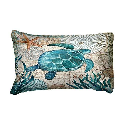 3D Tier Blau Schildkröte Karte Bettwäsche Set mit Reißverschluss, 2/3 Stück Kinder Mann Frau Wal Tintenfisch Polyester Bettbezug Set Winter Sommer