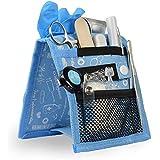 Organizador auxiliar de enfermería para bata o pijama | estampados en azul | Keen's de Mobiclinic | Elite Bags