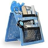 Organizador auxiliar de enfermería para bata o pijama   estampados en azul   Keen's de Mobiclinic   Elite Bags