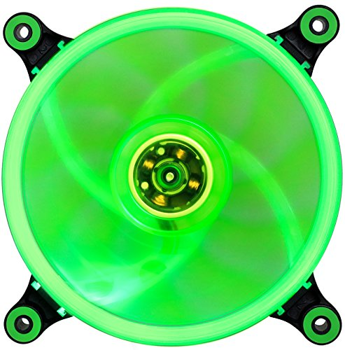 abatap 120mm Standard Fall Fan Ultra Leise Computer Cooling Fan mit Abnehmbarer Halterung und Silikon Pad 4Farben & RGB Grün Grün 2 Pack