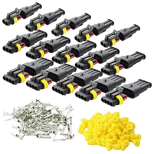 KINYOOO 15 Pcs Electrico Impermeable Conector, Conectores Sellado Impermeable Sellado Impermeable 2,...