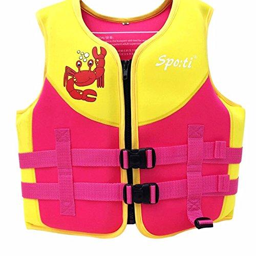 Titop Baby Outdoor Schwimmweste Schwimmen Schutz für Kind Unter 20 lbs Infant Schwimmen Jacke Flossen Rot Klein