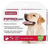 Beaphar - FIPROtec, pipettes anti-puce et anti-tique au Fipronil - grand chien de 20 à 40 kg - 3 pipettes
