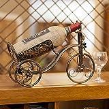 Spritech(TM) European Vintage Style Bronze-colored Tricycle Vintage Wine Rack Bottle Elegant Bottle Iron Holder by Spritech