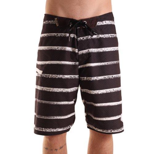 Light Jungen Boardshort Marks, black/white, 28 (XS), LSDMBS0812