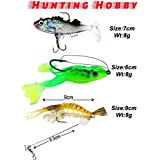 Hunting Hobby HH26 Fishing Live Silicone Rubber Soft Curly Tail Fish