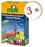 3 x ETISSO Schnecken-Linsen Power-Packs (4x200g) = 2,4 kg Schneckenmittel