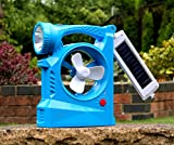 Mini Solar Powered Fan with Lights and Battery Backup for Caravan, Car, Camping, Boat by PK Green
