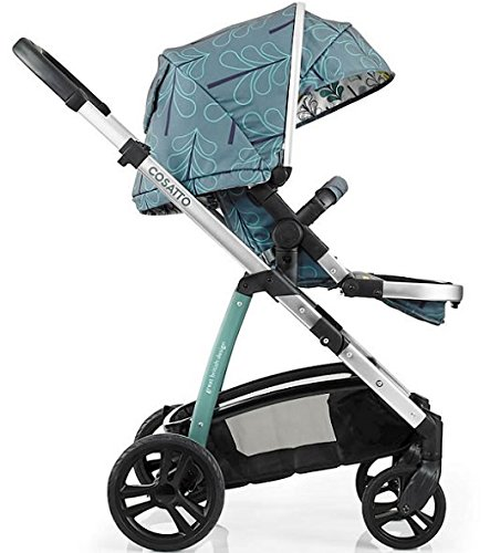 Cosatto wow Travel system with Port bag and footmuff in Fjord Cosatto Includes - Pushchair, Carrycot, Port Car seat, Footmuff, Changing bag and Raincover Suitable from birth up to 15kg (4 years approx.) 'In or out' facing pushchair seat lets them bond with you or enjoy the view. 5