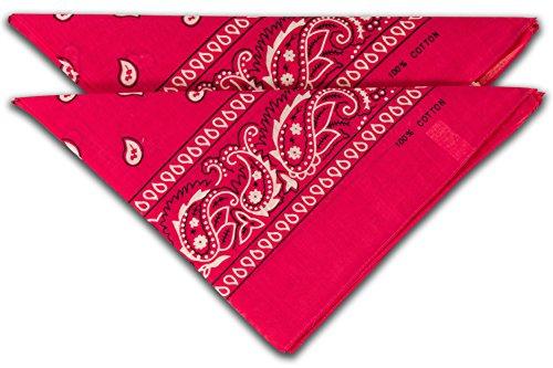 FashionCHIMP Nicki-Halstuch aus 100% Baumwolle im 2er Set, Unisex Bandana, AZO-Frei (Pink)