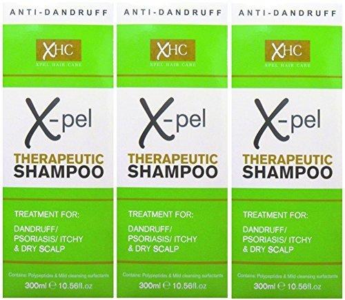 Xpel Lot Shampooing thérapeutique Traitement (3x 300ml) pour les pellicules psoriasis sec démangeaisons du cuir chevelu